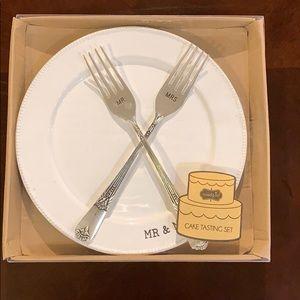Mr & Mrs cake tasting set
